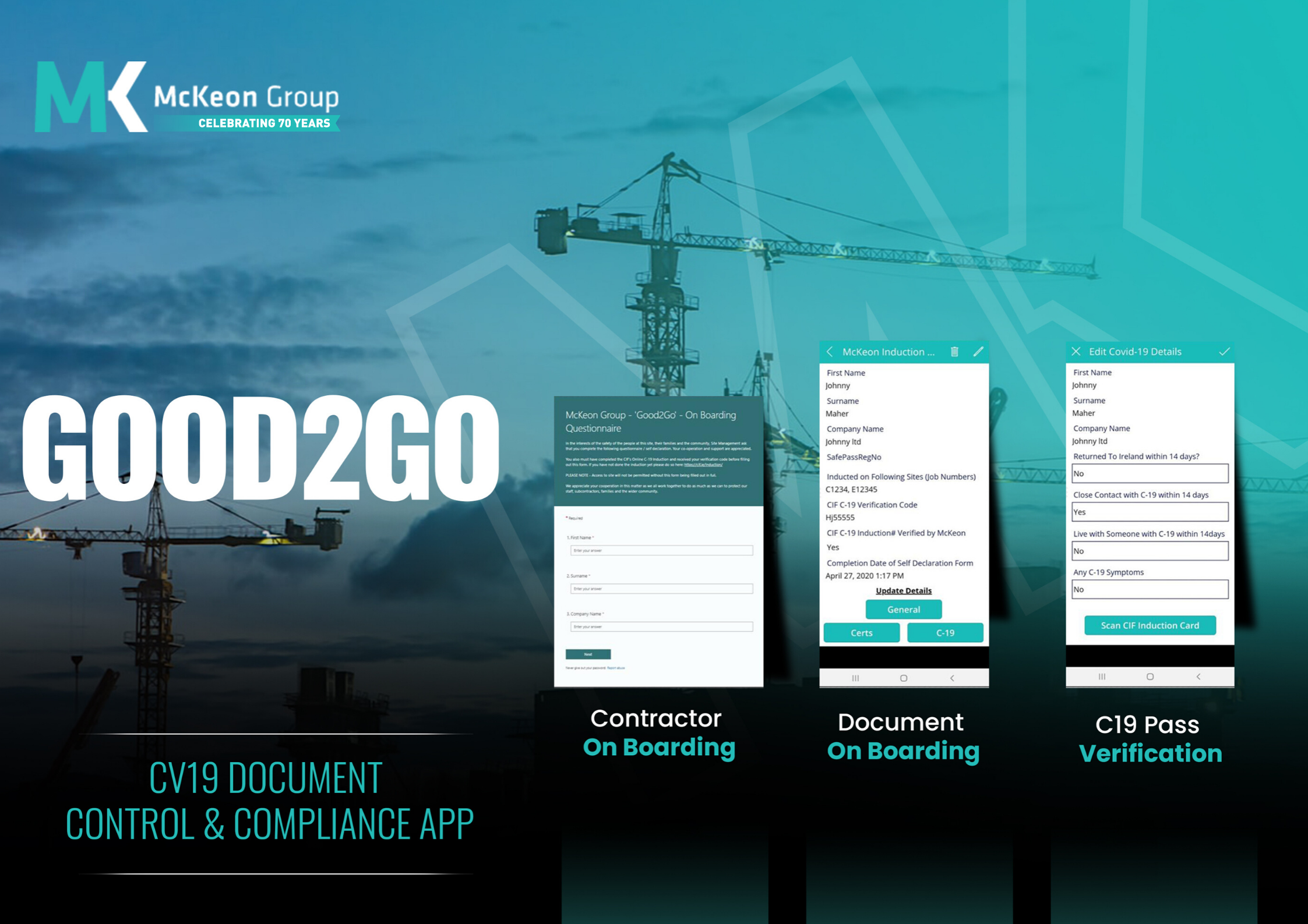Construction Network Ireland: McKeon Group Develops Good2Go Construction App for the Industry